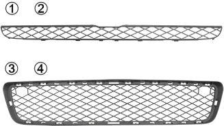 Grille de ventilation, pare-chocs - VAN WEZEL - 0687590