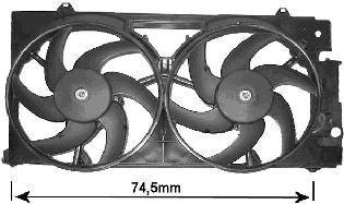 Ventilateur, refroidissement du moteur - VAN WEZEL - 0903749