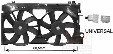 Ventilateur, refroidissement du moteur - VAN WEZEL - 0955749