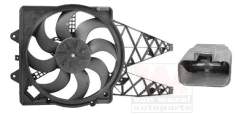 Ventilateur, refroidissement du moteur - VAN WEZEL - 1624749