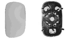 Verre de rétroviseur, rétroviseur extérieur - VAN WEZEL - 1636830