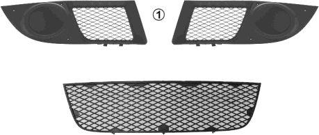 Grille de ventilation, pare-chocs - VAN WEZEL - 1637590