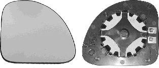 Verre de rétroviseur, rétroviseur extérieur - VAN WEZEL - 1640837