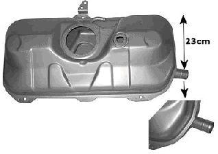 Réservoir de carburant - VAN WEZEL - 1758084