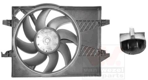 Ventilateur, refroidissement du moteur - VAN WEZEL - 1805747