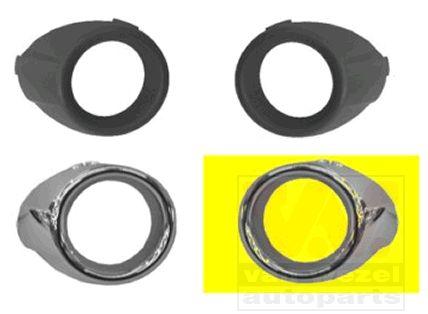 Grille de ventilation, pare-chocs - VAN WEZEL - 1807595