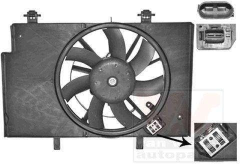 Ventilateur, refroidissement du moteur - VAN WEZEL - 1807749