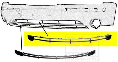Grille de ventilation, pare-chocs - VAN WEZEL - 1828590