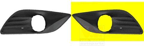 Grille de ventilation, pare-chocs - VAN WEZEL - 1866593