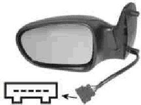 Rétroviseur extérieur - VAN WEZEL - 1867808
