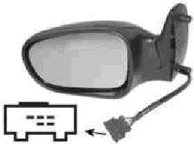 Rétroviseur extérieur - VAN WEZEL - 1868808