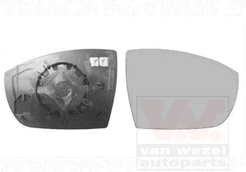 Verre de rétroviseur, rétroviseur extérieur - VAN WEZEL - 1869838