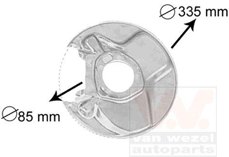 Déflecteur, disque de frein - VAN WEZEL - 3010374