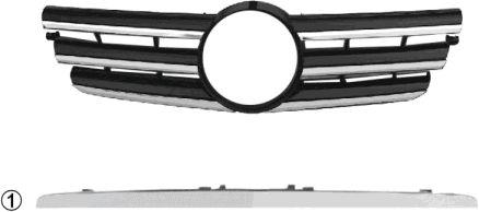 Grille de radiateur - VAN WEZEL - 3023510