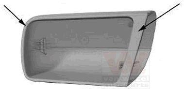 Revêtement, rétroviseur extérieur - VAN WEZEL - 3030841