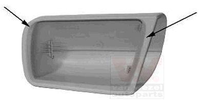 Revêtement, rétroviseur extérieur - VAN WEZEL - 3031841