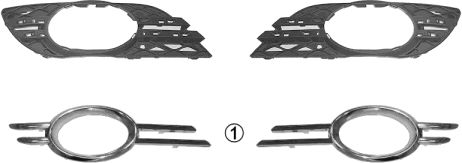 Grille de ventilation, pare-chocs - VWA - 88VWA3043593