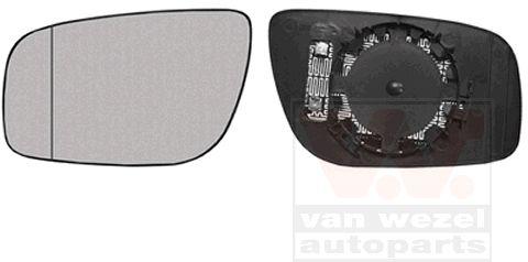 Verre de rétroviseur, rétroviseur extérieur - VAN WEZEL - 3043837