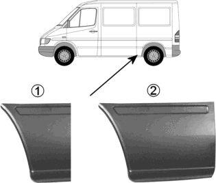 Panneau arrière - VAN WEZEL - 3076140