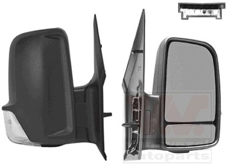 Rétroviseur extérieur - VAN WEZEL - 3077812