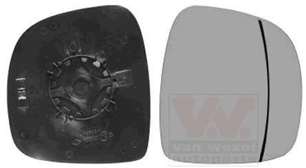 Verre de rétroviseur, rétroviseur extérieur - VAN WEZEL - 3080838