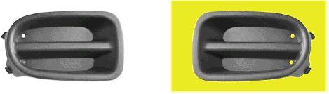 Grille de ventilation, pare-chocs - VAN WEZEL - 3319595