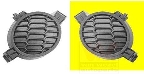 Grille de ventilation, pare-chocs - VAN WEZEL - 3329591