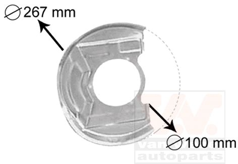 Déflecteur, disque de frein - VAN WEZEL - 3730371
