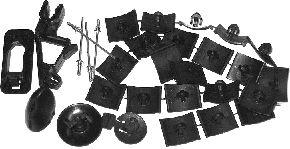 Kit d'assemblage, capot-moteur - VAN WEZEL - 3734797