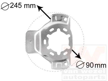 Déflecteur, disque de frein - VAN WEZEL - 3742371