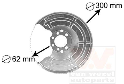 Déflecteur, disque de frein - VAN WEZEL - 3745371