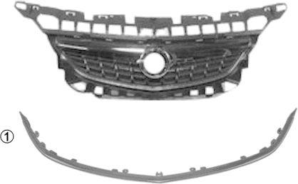 Grille de radiateur - VAN WEZEL - 3749517