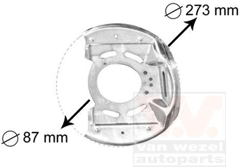 Déflecteur, disque de frein - VAN WEZEL - 3763371