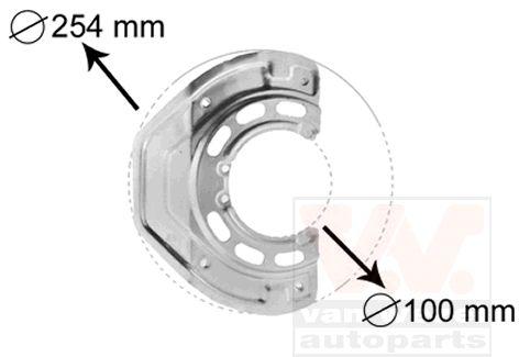 Déflecteur, disque de frein - VAN WEZEL - 3766371