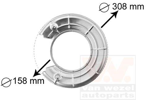 Déflecteur, disque de frein - VAN WEZEL - 3766373