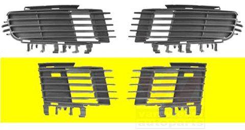 Grille de ventilation, pare-chocs - VAN WEZEL - 3768598