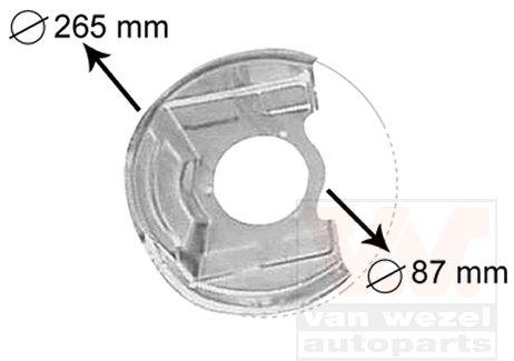 Déflecteur, disque de frein - VAN WEZEL - 3770371