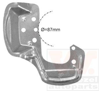 Déflecteur, disque de frein - VAN WEZEL - 3776372