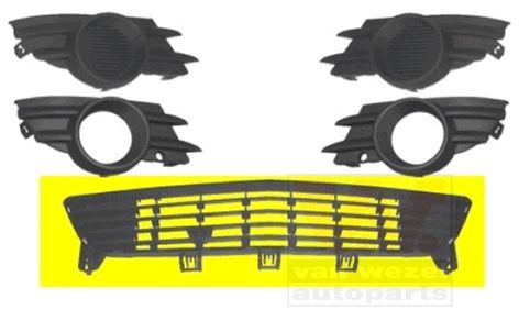 Grille de ventilation, pare-chocs - VAN WEZEL - 3782590