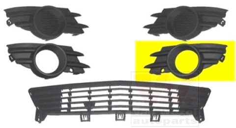 Grille de ventilation, pare-chocs - VAN WEZEL - 3782593