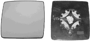Verre de rétroviseur, rétroviseur extérieur - VAN WEZEL - 3789832