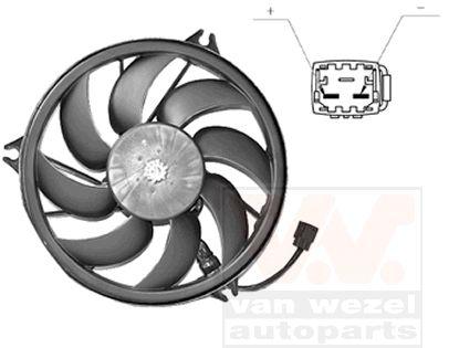 Ventilateur, refroidissement du moteur - VAN WEZEL - 4028748
