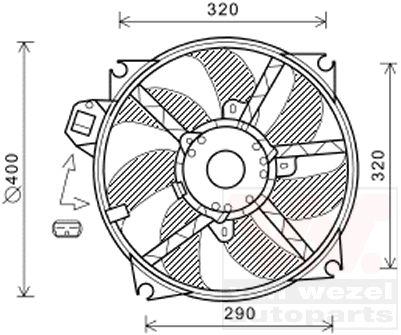 Ventilateur, refroidissement du moteur - VAN WEZEL - 4377747