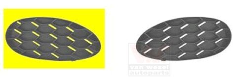 Grille de ventilation, pare-chocs - VWA - 88VWA5404592