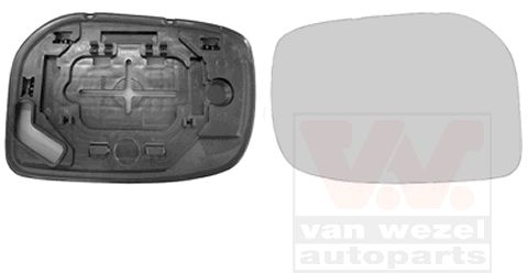 Verre de rétroviseur, rétroviseur extérieur - VAN WEZEL - 5432832