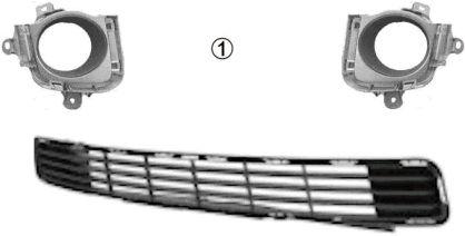 Grille de ventilation, pare-chocs - VAN WEZEL - 5467592
