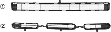 Grille de ventilation, pare-chocs - VWA - 88VWA5471599