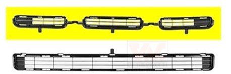 Grille de ventilation, pare-chocs - VAN WEZEL - 5471599