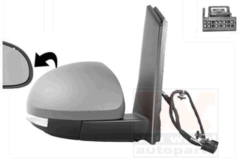 Rétroviseur extérieur - VAN WEZEL - 5776808