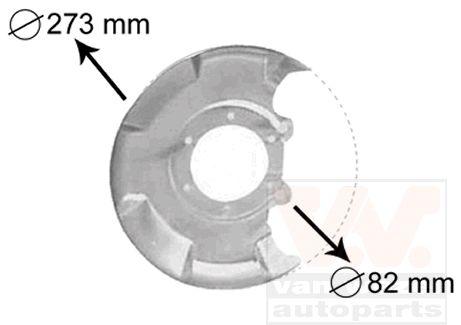 Déflecteur, disque de frein - VAN WEZEL - 5810371
